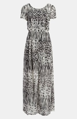 I.Madeline Leopard Print Maxi Dress