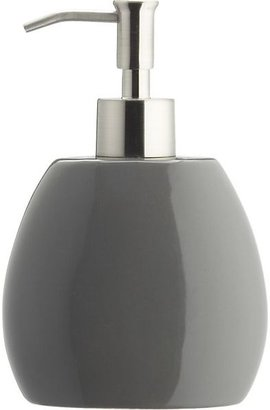 Crate & Barrel Grey Soap Pump.