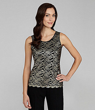 Ruby Rd. Lace Scoopneck Top