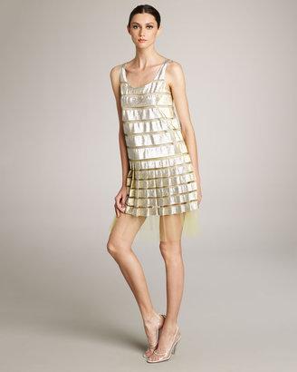Marc Jacobs Metallic & Tulle Dress