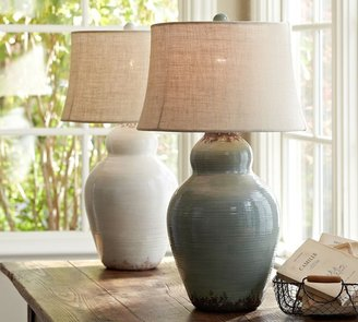 Pottery Barn Evelyn Ceramic Table Lamp Base
