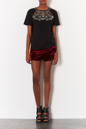 Topshop Tall Embellished Necklace Tee