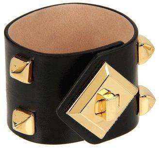 Vince Camuto Color Bracelets Smooth Black Turn Lock Bracelet