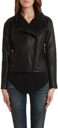 Vince Leather Zip Jacket