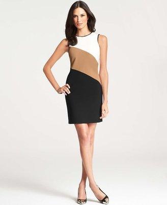Ann Taylor Colorblock Striped Sheath Dress