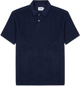 NN07 Alfons Navy Cotton-terry Polo Shirt