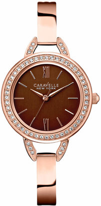 Caravelle New York by Bulova Women's Rose Gold-Tone Stainless Steel Bracelet Watch 28mm 44L134 $120 thestylecure.com