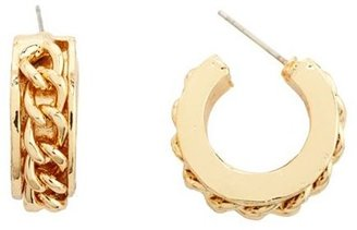 Charlotte Russe Chain Link Hoop Earrings