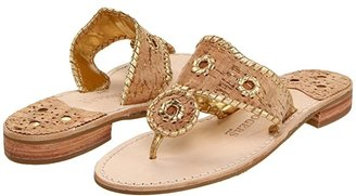 Jack Rogers Napa Valley (Cork/Gold Stitching) Women's Sandals