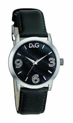 D&G Dolce & Gabbana Women's DW0689 Stainless Steel Analog with Black Dial Watch