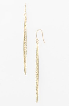 Mizuki 'Icicles' Pavé Diamond Linear Earrings