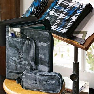 STUDY Gear-Up Blue Houndstooth Homework Holder