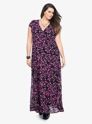 Torrid Floral Print Chiffon Maxi Dress