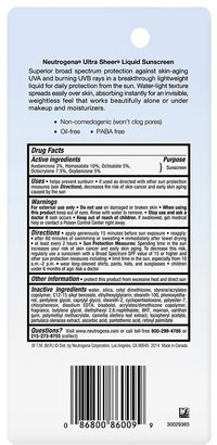 Neutrogena Ultra Sheer Liquid Daily Sunblock