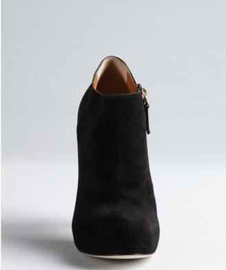 Fendi Black Suede Side-Zip Platform Booties