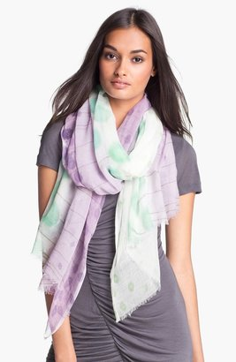 Nordstrom 'Ethereal Garden' Scarf Womens Multi Orchid One Size One Size