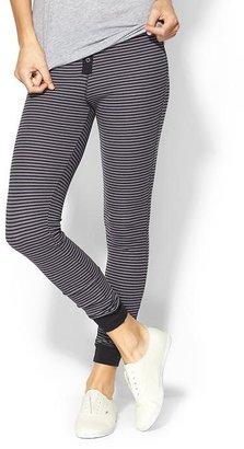 Splendid Mini Black Stripe Thermal Legging
