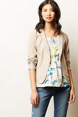 Anthropologie Stone Leather Blazer