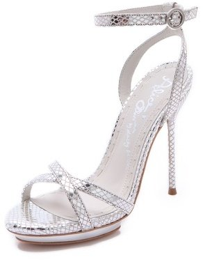 Alice + Olivia Paola Strappy Metallic Sandals
