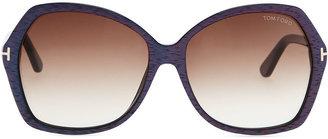 Tom Ford Plastic Square Sunglasses, Blue