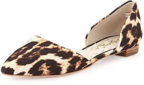 Alice + Olivia Hilary Flat Leopard-Embossed d'Orsay Flat, Gray (Stylist Pick!)