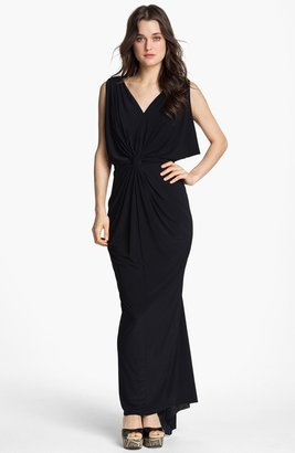 T-Bags Tbags Los Angeles Front Knot Maxi Dress
