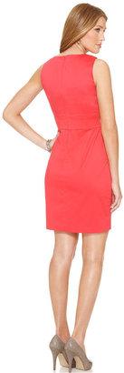 Amy Byer Petite Dress, Sleeveless Splitneck Sheath