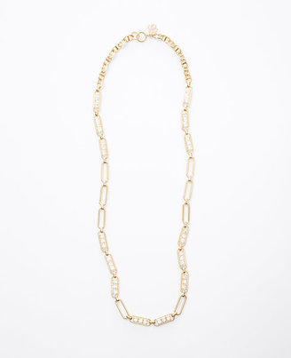 Ann Taylor Paperclip Long Necklace