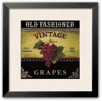 "Art.com Vintage Grapes"" Framed Art Print by Kimberly Poloson"