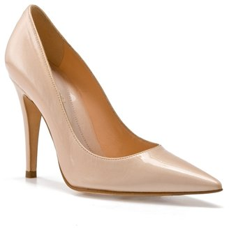 Sergio Rossi Patent Leather Pump - Nude