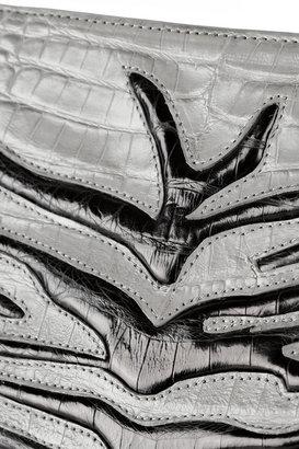 Nancy Gonzalez Embossed crocodile clutch