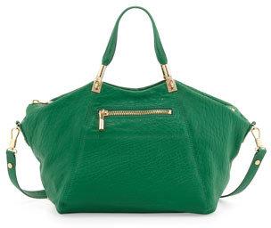 Elizabeth and James Cynnie Leather Satchel Bag, Green