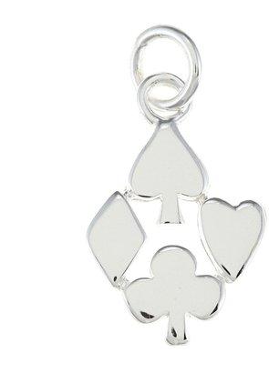 La Preciosa Sterling Silver Spade, Heart, Club and Diamond Suit Charm