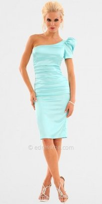 Atria Puffed Sleeve One Shoulder Cocktail Dresses