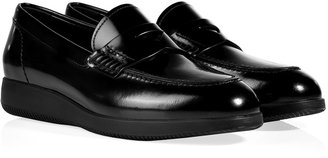 Hogan Patent Leather Loafers in Black