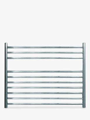 John Lewis & Partners Priory Dual Fuel Heated Towel Rail and Valves, from the Wall