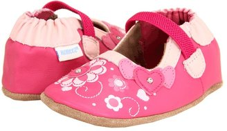 Robeez Jazzy Jenn Soft Soles (Infant/Toddler) (Hot Pink/Pastel Pink) - Footwear