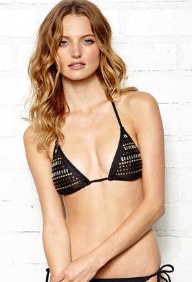 Forever 21 Edgy Studded Bikini Top
