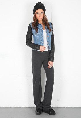 Monrow Trouser Sweatpant in Vintage Black