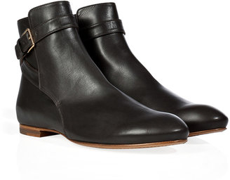 Jil Sander Charcoal Leather Ankle Boots