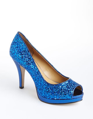 Nine West Danee Glitter Peep-Toe Pumps