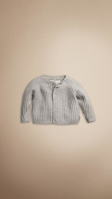 Burberry Ribbed Cashmere Cotton Cardigan