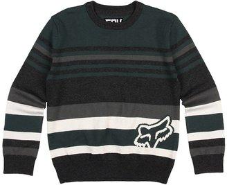 Fox Time Code Sweater (Little Kids/Big Kids) (Pine) - Apparel