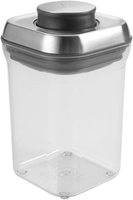 OXO Good Grips SteeL POP Small Square Container, 0.9 Quart