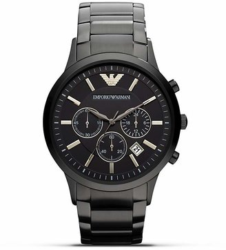 Emporio Armani 316 Stainless Steel Bracelet with Black Dial Watch, 43mm