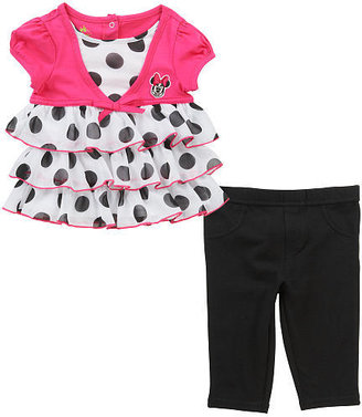 Babies 'R' Us Babies R Us Disney Girls' Minnie Mouse 2 Piece Ruffle Top and Pants Set