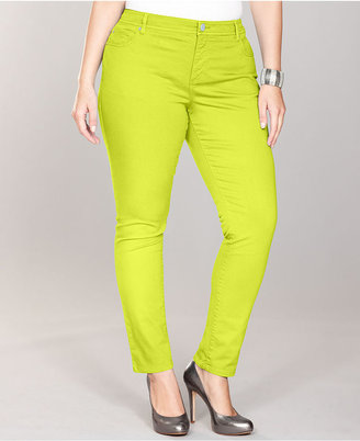 INC International Concepts Plus Size Jeans, Skinny Colored Denim