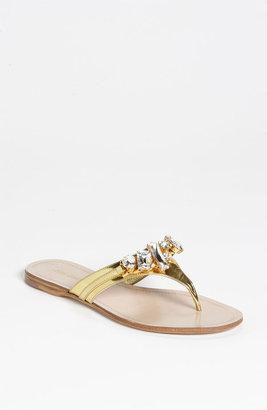 Miu Miu Jeweled Thong Sandal
