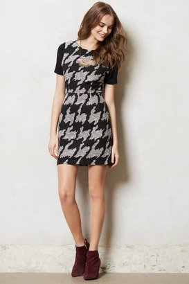 Anthropologie Exploded Houndstooth Shift