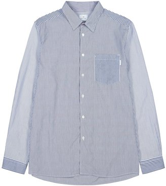 Paul Smith Blue Striped Cotton Shirt